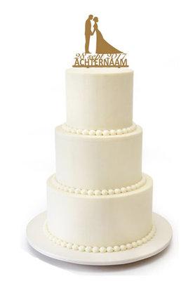 Kus bruidspaar taarttopper