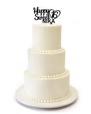 Happy Sweet 16 taarttopper