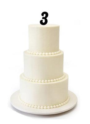 Cijfer taarttopper