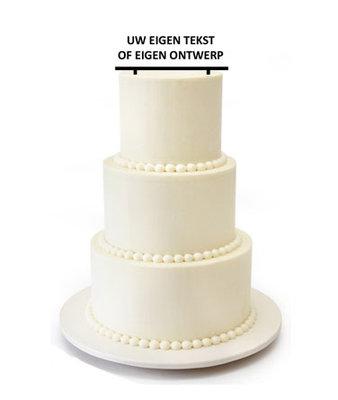 Eigen ontwerp taarttopper