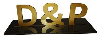 Proefkaart trouwkaart initialen
