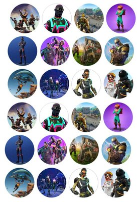 Fortnite cake toppers