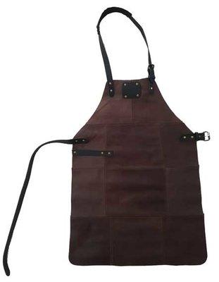Leren BBQ schort bruin