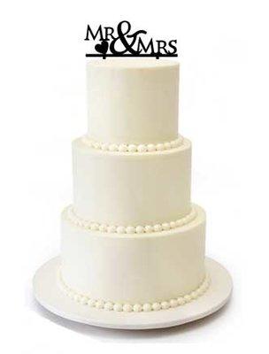 Mr&Mrs hart taarttopper
