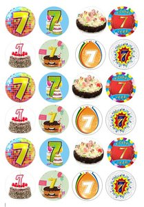 Cake toppers getal