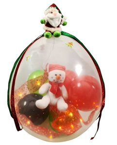 Cadeauballon kerst sneeuwpop