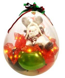 Cadeauballon kerst pluche rendier