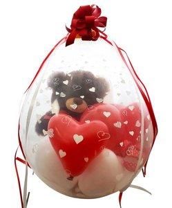Cadeauballon Valentijnsbeer