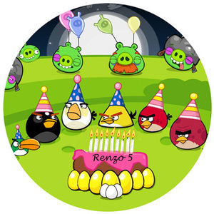 Angry Birds taart disc
