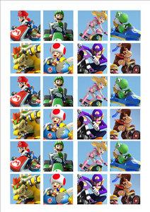 Mario kart cake toppers