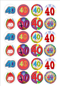 40 cake toppers