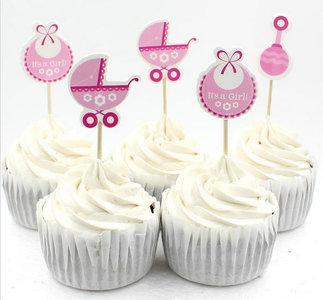 Baby meisje stekers cake