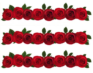 Taartrand rozen