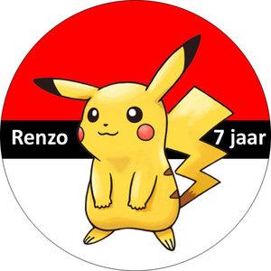 Taart disc Pokemon Pikachu