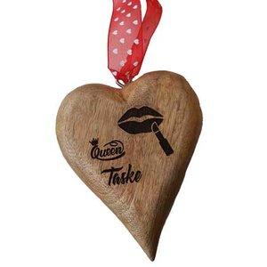Gegraveerd houten hart