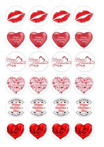 Valentijnsdag cake toppers