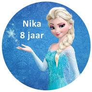 Frozen Elsa taart disc