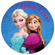 Frozen Anna Elsa taart disc